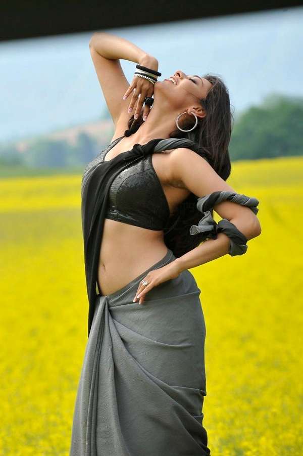 Kajal Agarwal Hot Saree Photos @ Veera Movie