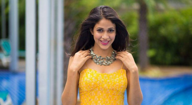 Lavanya Tripathi Yellow Maxi Dress Photos