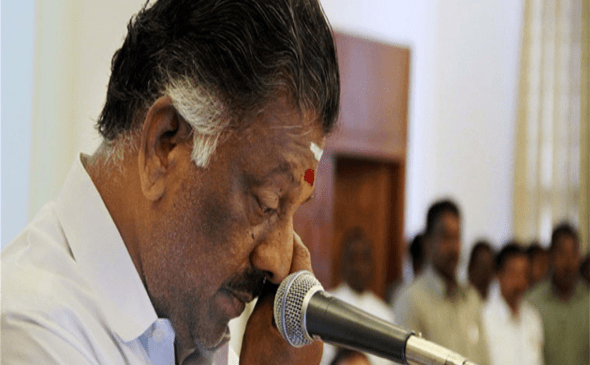 O Pannerselvam sworn-in as Tamil Nadu CM