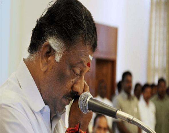 O Pannerselvam sworn-in as Tamil Nadu CM