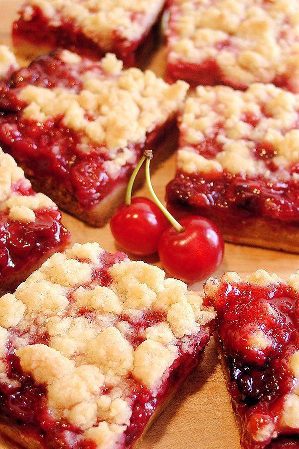 Double-Cherry Streusel Bars Recipe