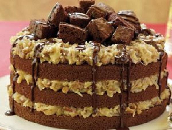 German Pecan-Laced Chocolate Cake Recipe
