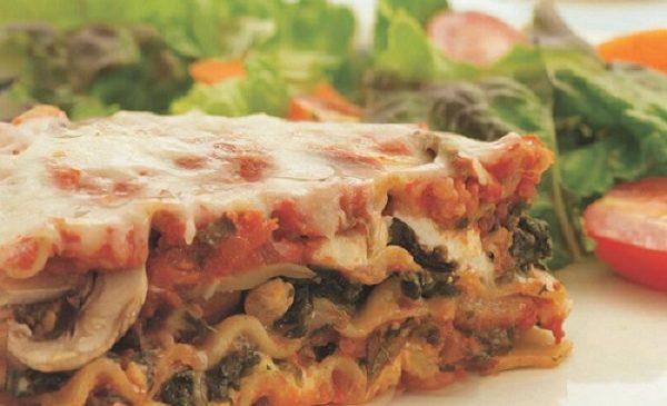 Mushroom, Sausage and Spinach Lasagna Recipe