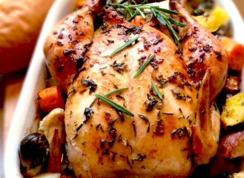 Rosemary Chicken with Roasted Vegetables Recipe