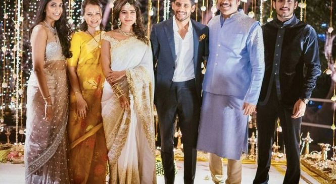 Samantha Naga Chaitanya Engagement Stills