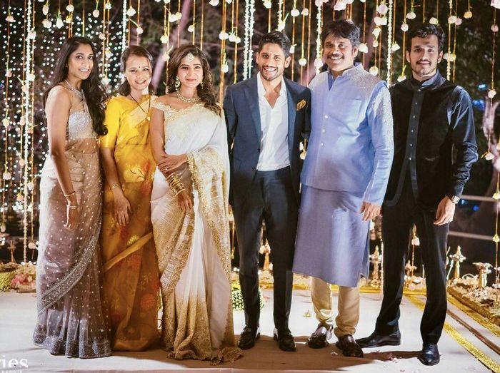 Samantha Naga Chaitanya Engagement Stills