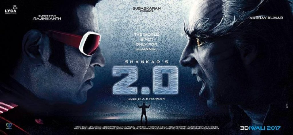 Shankar, Rajinikanth, Akshay Kumar, Amy Jackson and AR Rahman ROBO 2.0 Movie