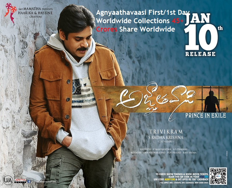 Agnyaathavaasi First/1st Day Worldwide Collections