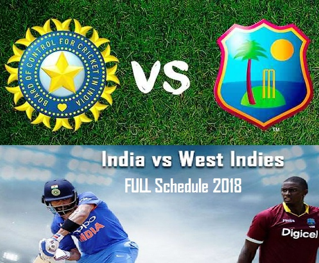 India vs West Indies 2018 Tour Updates