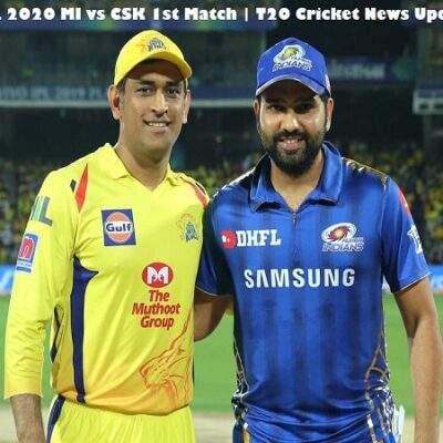 Dream11 IPL 2020 MI vs CSK 1st Match | T20 Cricket News Updates