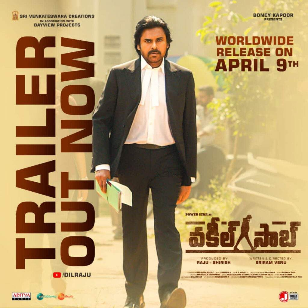 Power Star Pawan Kalyan Vakeel Saab Trailer